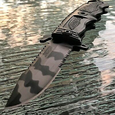 TAC-FORCE URBAN SPRING TACTICAL RESCUE Assisted Open Pocket Knife Folding Blade