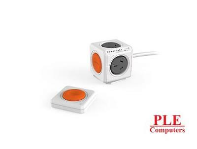 Allocacoc PowerCube Extended Grey 1.5m w/ Remote Control Button [ELEWES1562RM]