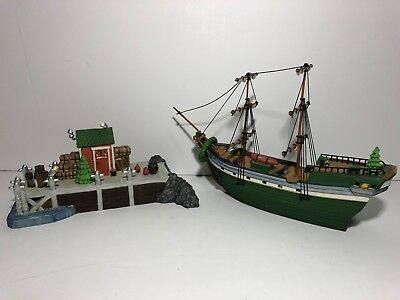 Dept 56 Heritage Village New England Series The Emily Louise Ship Dock '98