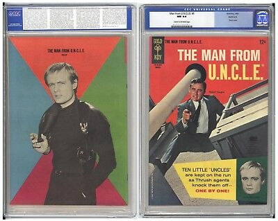 Man From U.n.c.l.e. #5  Cgc Nm 9.4 - Fantastic Back Cover Variant Pin-Up - 1966