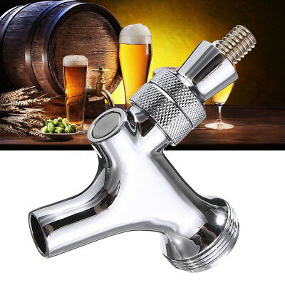 Chrome Draft Beer Faucet Tap For Kegerator Standard Keg Shank Spout Home Brew