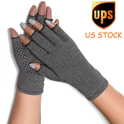 Compression Arthritis Gloves Grips Blood Circulation Cotton Hand Wrist Brace US