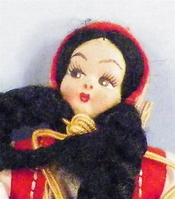 Vintage Greek Doll in Ethnic Costume Greece Stockinette Face Small A Beauty