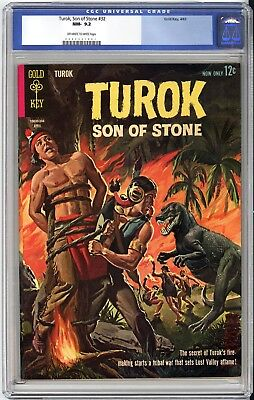 Turok Son Of Stone #32  Cgc Nm 9.2 - Very Old Label - Back Cover Variant 1963