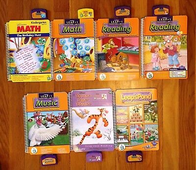 LEAP FROG 7 BOOKS & CARTRIDGES for the LeapPad Learning System Leap 1 Ages 4-6