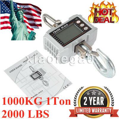 1000KG 1Ton 2000 LBS Digital Crane Scale Heavy Duty Hanging Scale OCS-S In USA!