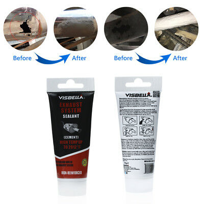 Exhaust System Pipe Repair Kit High Temperature to 1100C Cement Crack Sealant Ht