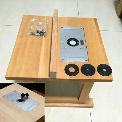 Router tables power tools tools home garden picclick aluminum router table insert plate w 4 rings screws for woodworking benches greentooth Gallery