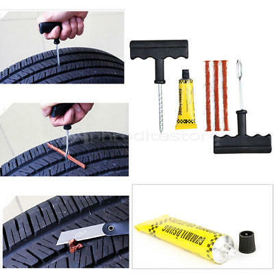 Car Auto Tubeless Tyre Puncture Plug Tire Repair Motorcycle Cement Tool