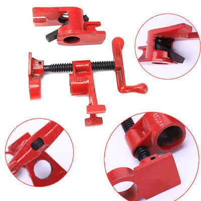 """3/4"""" Wood Gluing Pipe Clamp Set Heavy Duty PRO Woodworking Cast Iron Home Tools"""