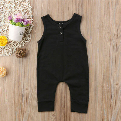 Toddler Kids Baby Girls Boys Romper Jumpsuit Harem Pants Clothes Outfits 0-18M