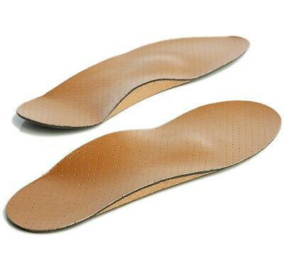 Orthotic Insoles Leather Full Length with Arch Supports for Plantar Fasciitis