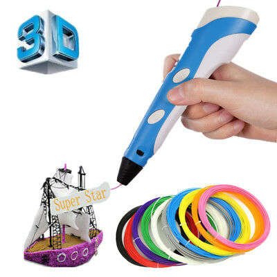 2018 3D Stereoscopic Printing Pen with LCD Screen Version - PLA ABS