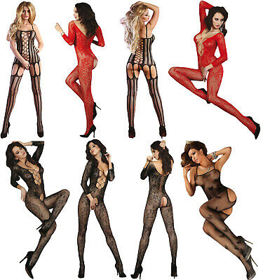 Sexy Body Stocking SEDUCTIVE Bodysuit Tights Catsuit Lingerie Fishnet Camisole