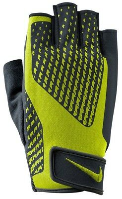 Nike Mens Core Lock 2.0 Sports Weight Lifting Training Gloves Volt lime & Black