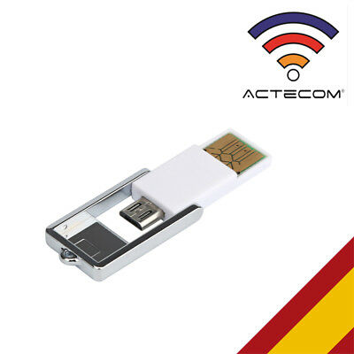 ACTECOM® Adaptador OTG Lector Micro SD USB para Smartphone Tablet Android PC