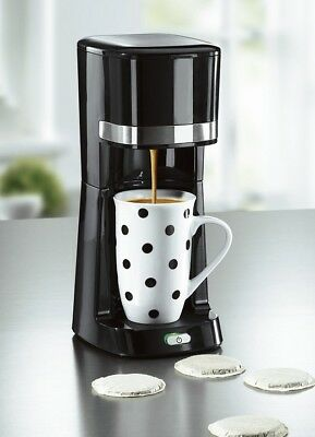 """coffeemaxx""Single Kaffeemaschine+To-go Thermobecher +Tasse, schwarz,Padmaschine"