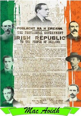 Irish Republican. Prints. Ireland. Celtic. Sinn Fein. IRA.Irish Proclamation.