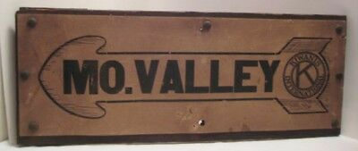 Antique Arrow Road Sign MOHONING VALLEY Pa KIWANIS Club 1920s-30s Rare!