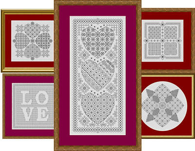 Blackwork Embroidery Charts - Choose from a range of designs  *Chart only*