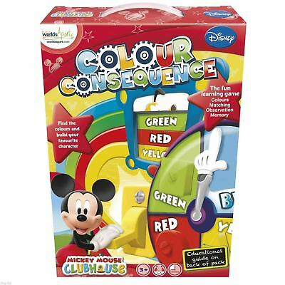 Mickey Mouse Colour Consequence Game Learning Game NEW TOY