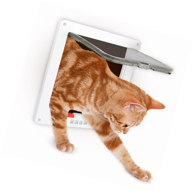 Cat Flap, Zellar Large 4-Way Pet Door Kit for Cats and Small Dogs