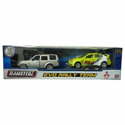Teamsterz Evo Rally Team 4x4 with trailer and Yellow Evo Rally Car Toy