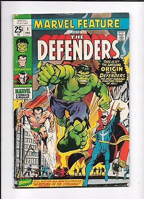 Marvel Feature #1 ==> Vg 1St Appearance Of The Defenders Marvel Comics 1971