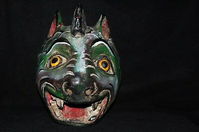 032 DRAGON BABY MEXICAN WOODEN MASK dragoon madera artesania decoracion