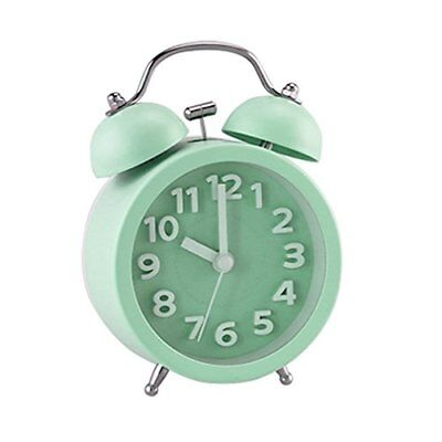 "PiLife 3"" Mini Non-ticking Vintage Classic Bedside /Table Analog Alarm Clock 3D"
