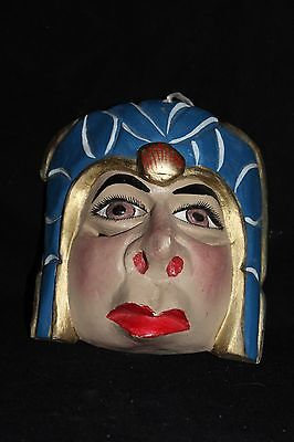 145 EMPERADOR FACE MEXICAN WOODEN MASK mascara artesania mexicana wall decor