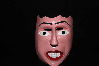 181 FACE DANCE MEXICAN WOODEN MASK mascara danza artesania authentic Mexico
