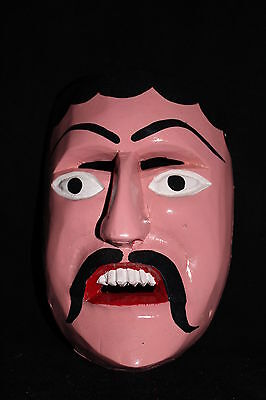 190 FACE DANCE MEXICAN WOODEN MASK mascara danza artesania autentic