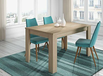 Mesa de comedor o salon extensible color roble canadian 140 cm a 190 cm