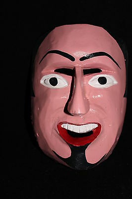 192 FACE DANCE MEXICAN WOODEN MASK mascara danza artesania autentic