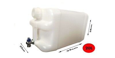 Water storage container 20L With tap  Garden  Camping Tank Bottle Can Food Grade