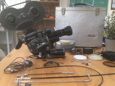 Vintage 16 Mm Beaulieu R16 Movie Camera W/ Angenieux Pairs Zoom 12-120Mm Lens
