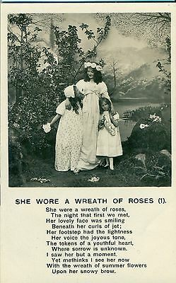 POSTCARD SONG  She wore a wreath of roses (1)