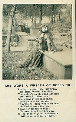 POSTCARD SONG  She wore a wreath of roses (3)