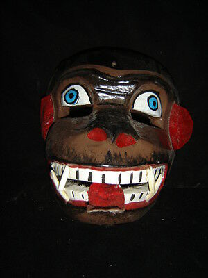 295 CHANGO MEXICAN WOODEN MASK wall decor monkey madera artesania tallada a mano