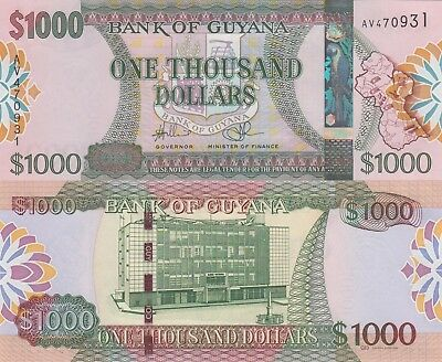 Guyana 1000 Dollars (ND/2012) - Foil OVI with Parrot/p39 UNC