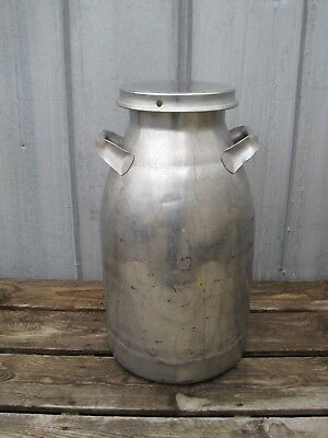 Vintage 40 qt Stainless Steel Milk Can 10 gal Firestone B7775