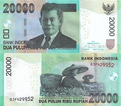 Indonesia 20000 Rupiah (2015) - Women in Rice Paddy/p151e UNC