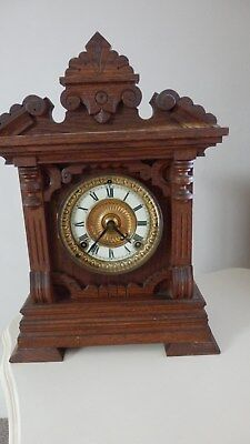 Vintage Ansonia 8 Day Summit Strike Mantel Clock
