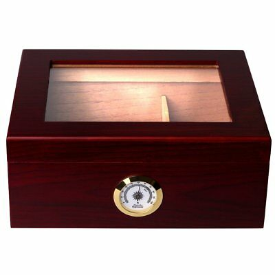Humidor Cigar Humidor with Easily Detachable Humidifier Humidors holds 25-50