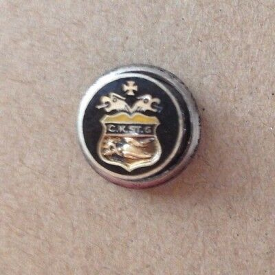 Antique Catholic Knights Templar Lapel Pin Sterling Screwback Tiny Lapel pin