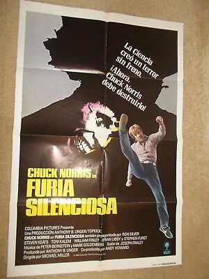 Chuck Norris Pair Of Posters Silent Rage 1982 Regular & Spanish Versions