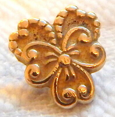 "Beautiful Little Antique French Victorian Lacy Gilt Brass ""pansy"" Flower Button"