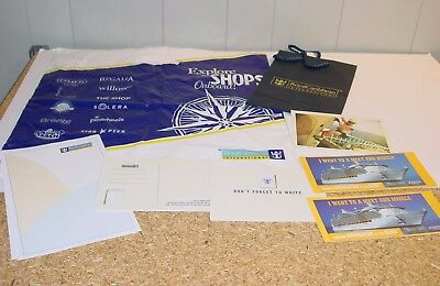 Royal Caribbean Cruise Lines Voyager Class Postcards 6 & 2 Magnets + Note Paper+