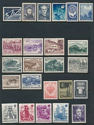 Austria **44 DIFFERENT (1949-1964)** ALL MH; FEW FAULTS/ MOSTLY SOUND; CV $47